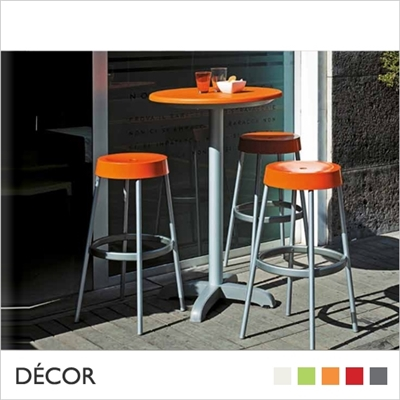 GIM BARSTOOL, ALUMINIUM, TECHNOPOLYMER, BAR HEIGHT