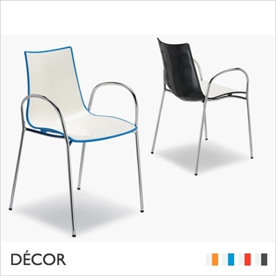 ZEBRA BICOLOUR CHAIR WITH ARMRESTS