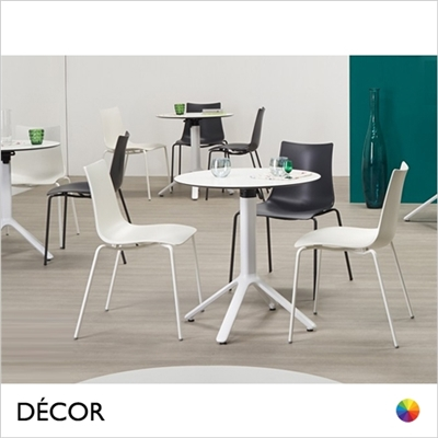ZEBRA TECHNOPOLYMER CHAIR COATED FRAME, CANTEEN