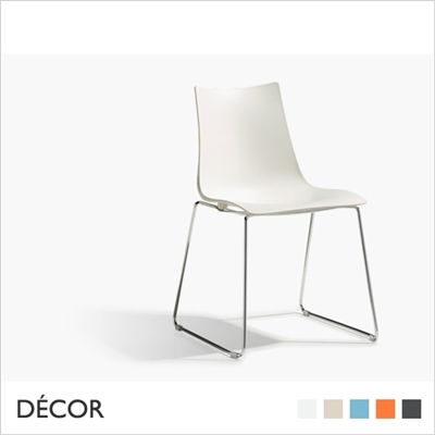 ZEBRA TECHNOPOLYMER CHAIR, SLEDGE FRAME