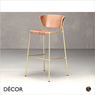 LISA BAR STOOL, WOOD