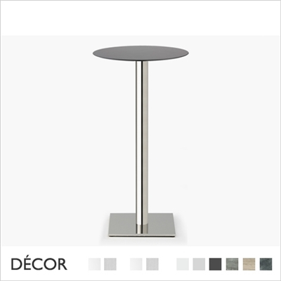 TIFFANY BAR HEIGHT TABLE BASE, SQUARE BASE