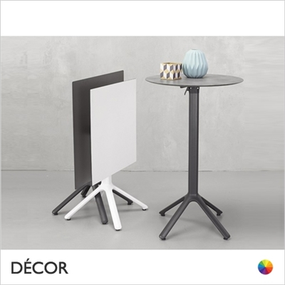 NEMO FOLDING TABLE BASE, LAMINATE TOPS