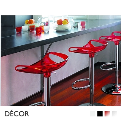 ZOE BARSTOOL, POLYCARBONATE, GAS LIFT
