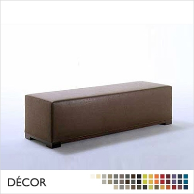 FRANCO OTTOMAN, ECO LEATHER & DESIGNER FABRICS