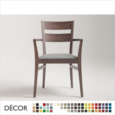 SILLA CHAIR WITH ARMRESTS, ECO LEATHER & DESIGNER FABRICS