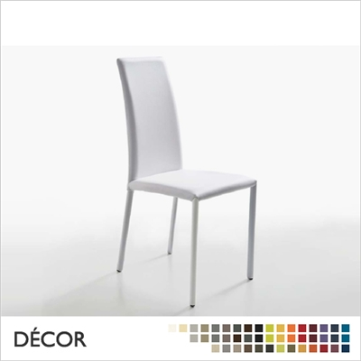 SILVY CHAIR WITH UPHOLSTERED LEGS, HIGH BACK, REAL LEATHER, ECO LEATHER & DESIGNER FABRICS