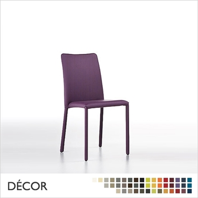 SILVY CHAIR, WITH UPHOLSTERED LEGS, LOW BACK, REAL LEATHER, ECO LEATHER & DESIGNER FABRICS