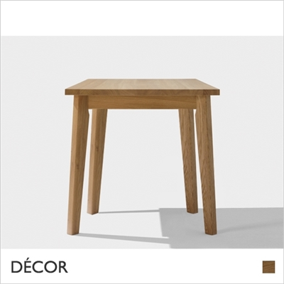 T TABLE, SQUARE, 800mm, SOLID OAK