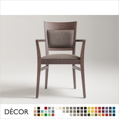 SOUL CHAIR WITH ARMRESTS, ECO LEATHER & DESIGNER FABRICS