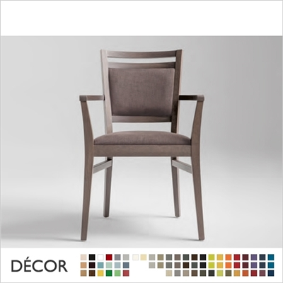 SURI CHAIR WITH ARMRESTS, ECO LEATHER & DESIGNER FABRICS