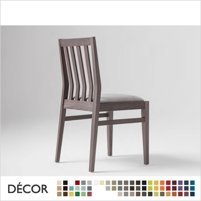 TARA CHAIR, ECO LEATHER & DESIGNER FABRICS