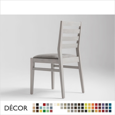 TONI CHAIR, WOOD, ECO LEATHER & DESIGNER FABRICS