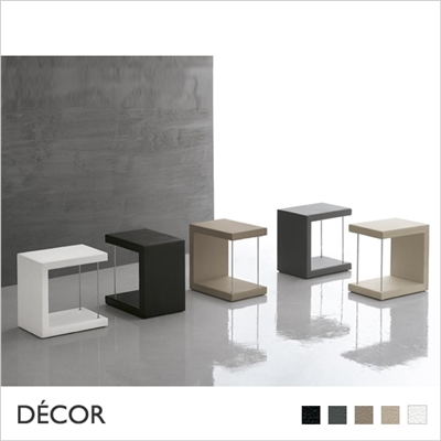 LEO SIDE TABLE, SOFT TOUCH ECO LEATHER