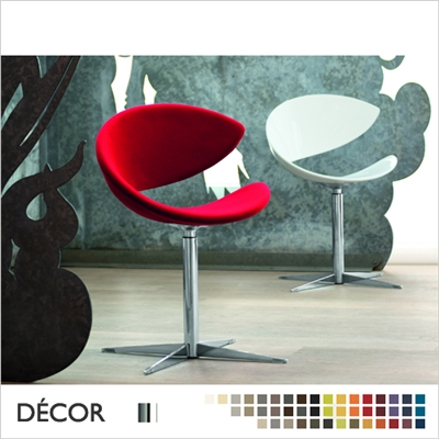 TWIST F CHAIR, FOUR STAR SWIVEL BASE, ECO LEATHER