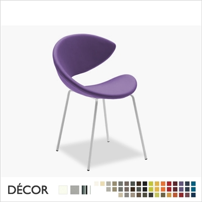 TWIST CHAIR, STRAIGHT LEGS, ECO LEATHER