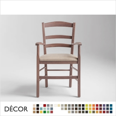 VENEZIA CHAIR WITH ARMRESTS, ECO LEATHER & DESIGNER FABRICS