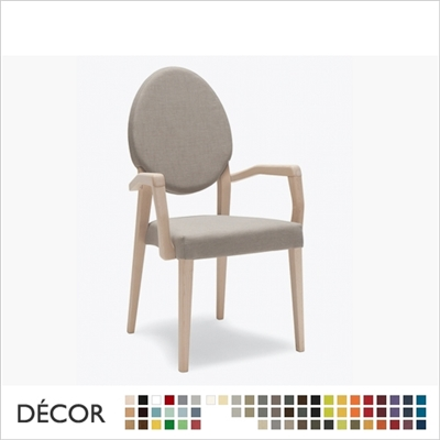 VICTORIA SOFT CHAIR WITH ARMRESTS, STACKABLE