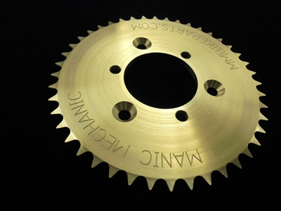 Manic Mechanic 44T sprocket with countersink holes