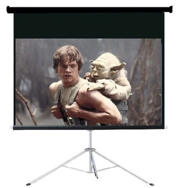"Pro 100"" 16:9 Ratio Portable Tripod Projector Projection Screen Office Theater"