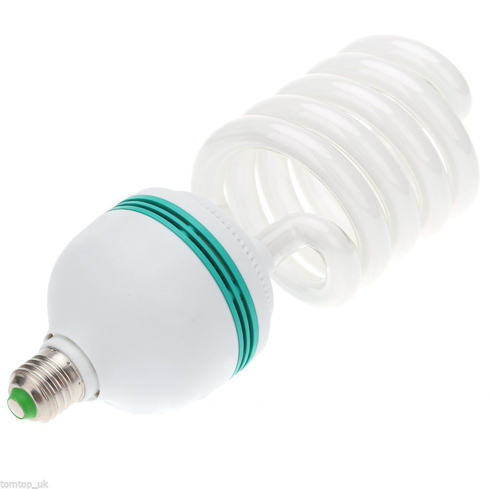 New 4x135w Cfl 5500k Fluorescent Continuous Pure White Light Bulbs Lampu Studio 45w 4800 Lumins