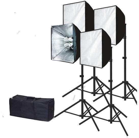 Photography 24 X 36 Softbox 3200 Watt Fluorescent Video Continuous Lighting Kit