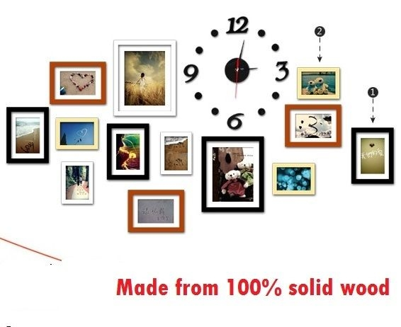 wood picture frames wall decoration wall clock hanging template