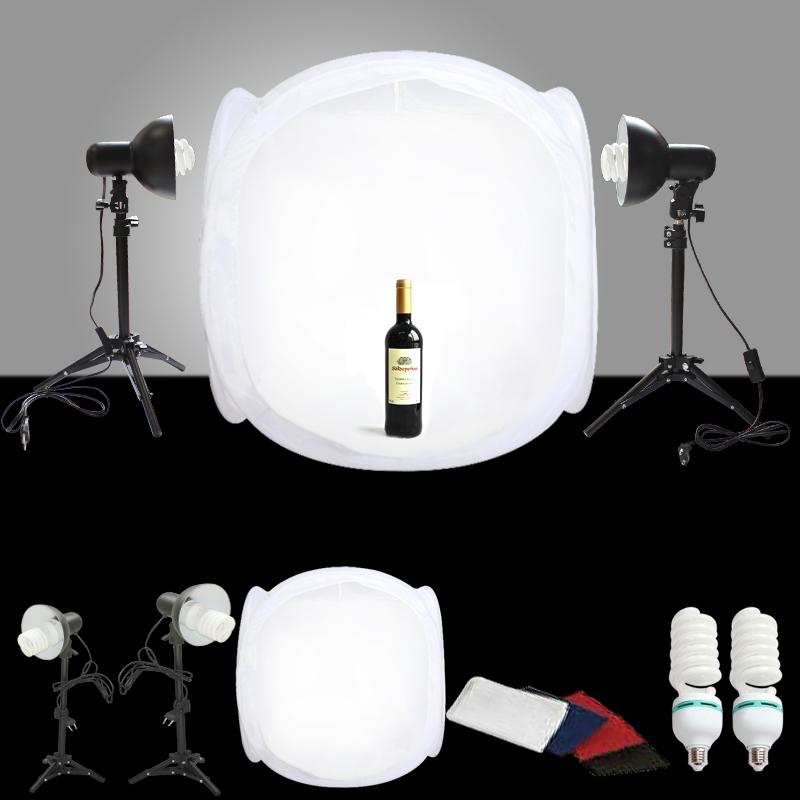 Pro Studio Light Photo Kit Combo Studio In A Box 24 Tent Set