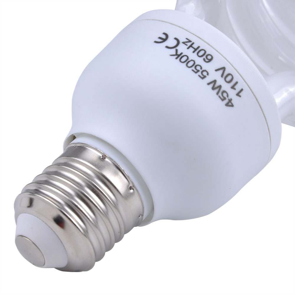 Digital 45 Watt Photo Compact Fluorescent Light Bulb Of 5500k Color Lampu Studio Cfl 45w Temperature