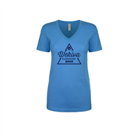 Women's Blue V-Neck