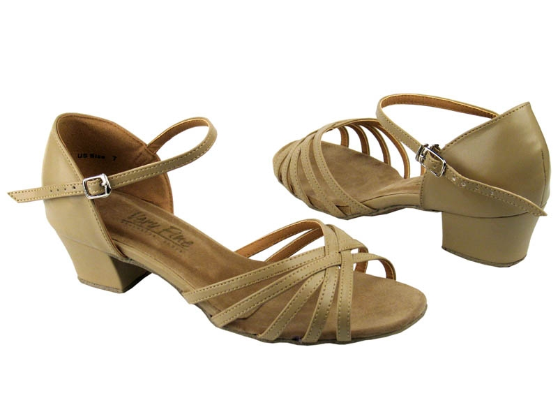 Very Fine Dance Shoes 802 with thick Cuban heel in silver, gold ...