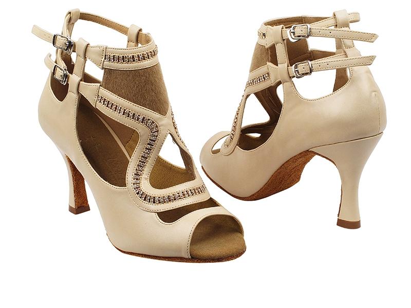 ba70d88edffc74 Double strap open toe designer dance shoes.