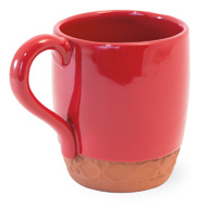 Red Cherry Terracotta Mug