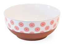 Red Cherry Dot Terracotta Bowl