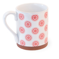 Red Cherry Dot Terracotta Mug