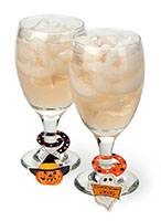 Haunted Halloween Beverage Charm Set