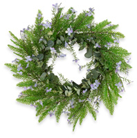 Purple Fern Wreath