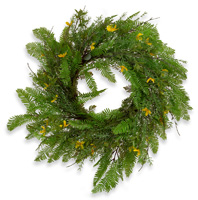 Yellow Fern Wreath
