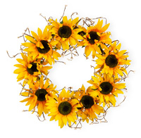 SunFlower Hollow Wreath