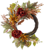 Autumn Flowers Wreath