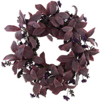 Mauve Leaves & Berries Wreath