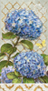Blue Heirloom Flowers Guest Towel