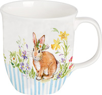 Lovely Bunny Light Blue Bone China Country Mug