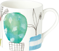 Roof Garden Bone China Mug