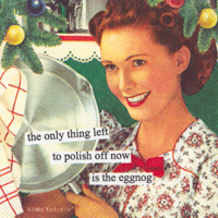 Anne Taintor Eggnog Cocktail Napkin