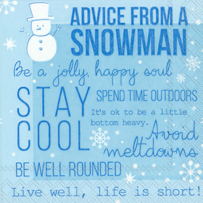 Advice from a Snowman Cocktail Napkin