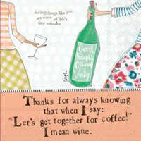 Curly Girl Coffee and Wine Cocktail Napkin