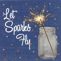 Let Sparks Fly Cocktail Napkin