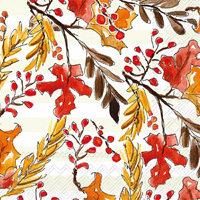 Rosanne Beck Amber Foliage Cocktail Napkin