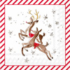 Reindeer Pattern Cocktail Napkin